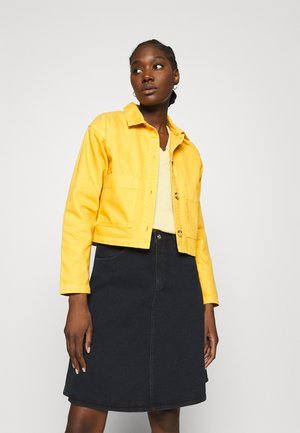 CAMDEN - Denim jacket - yellow