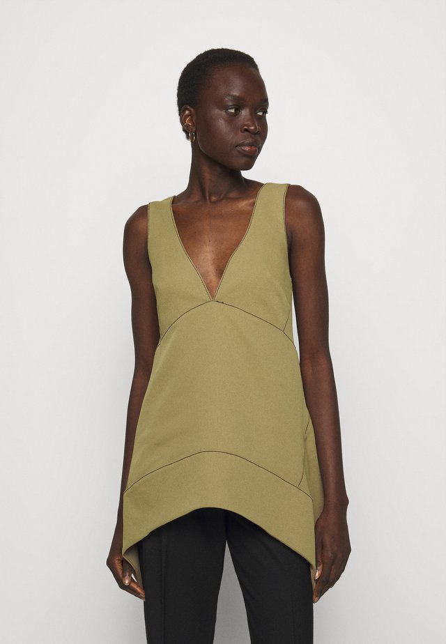 RUMPLED  - Top - khaki