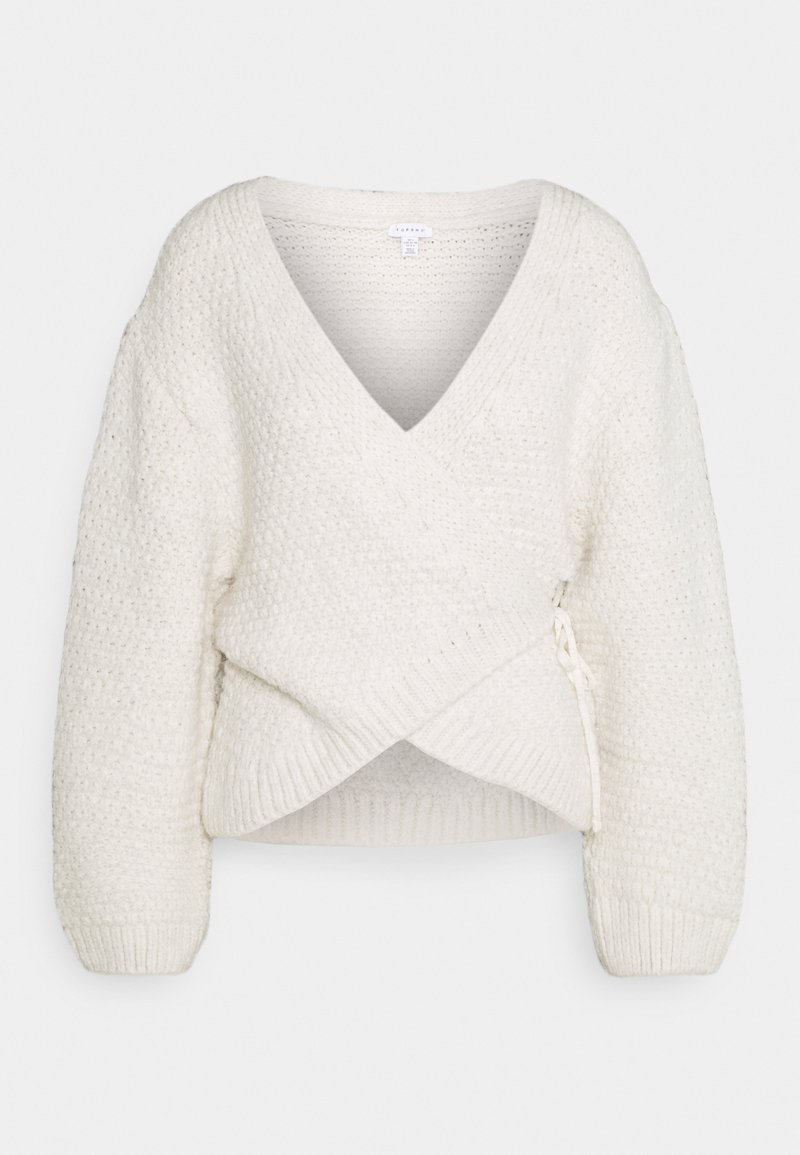 Topshop - PRETTY CHUNKY  - Pullover - ivory