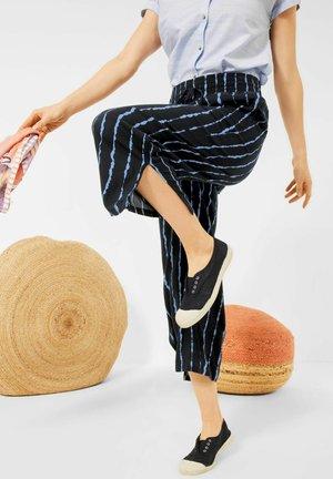 MIT WIDE LEGS - Trousers - deep blue