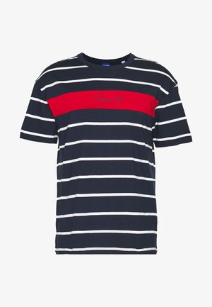 JORLATERS TEE CREW NECK - Camiseta estampada - navy blazer