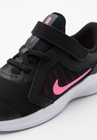 Nike Performance - DOWNSHIFTER 10 UNISEX - Neutral running shoes - black/pink glow/anthracite/white - 5