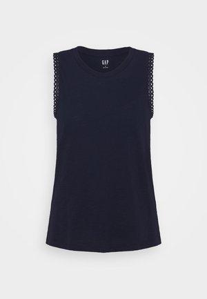 TRIM TANK - Print T-shirt - navy