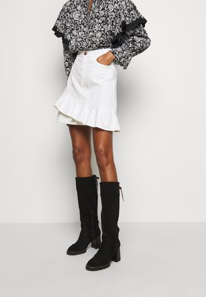 Denim skirt - confident white