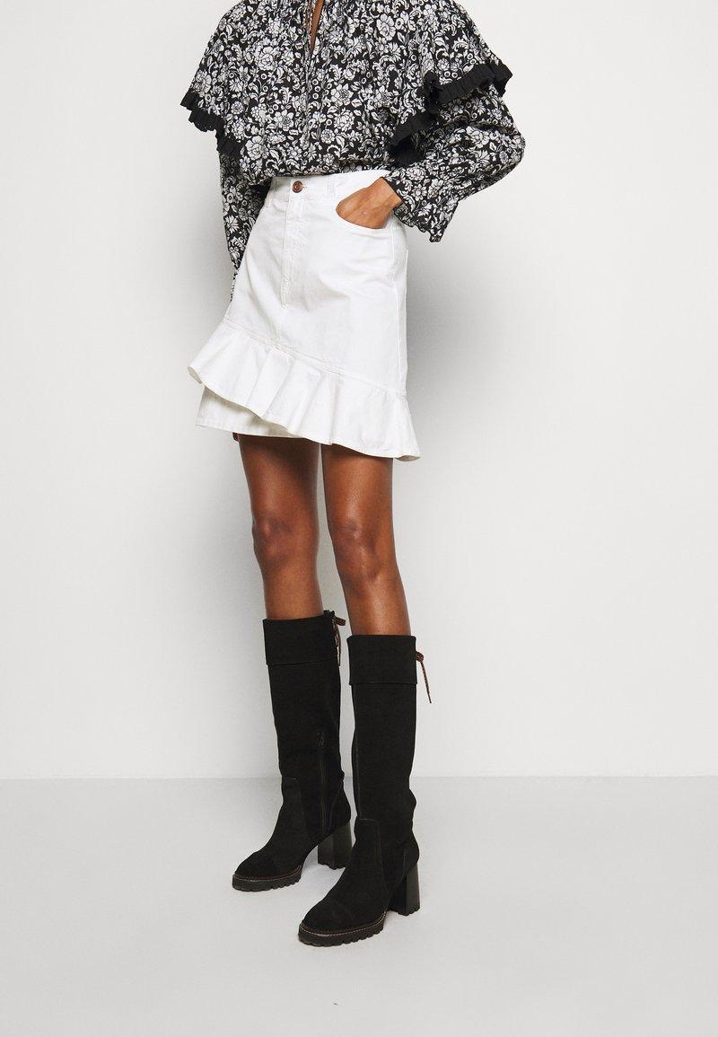 See by Chloé - Denimová sukně - confident white