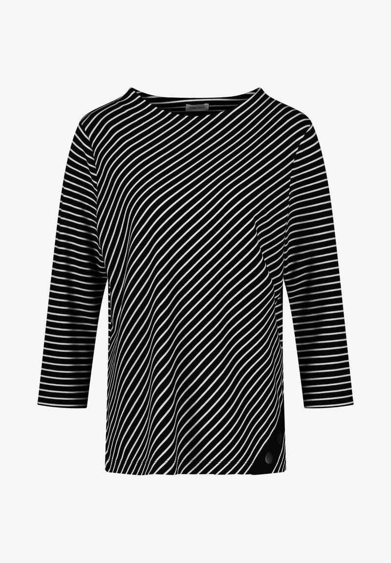 Gerry Weber - Long sleeved top - schwarz/ecru/weiss ringel