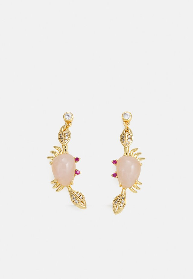 CRAB DROP EARRINGS - Kolczyki - pink