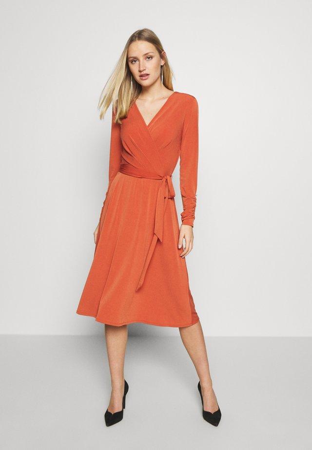 WRAP DRESS - Jersey dress - red