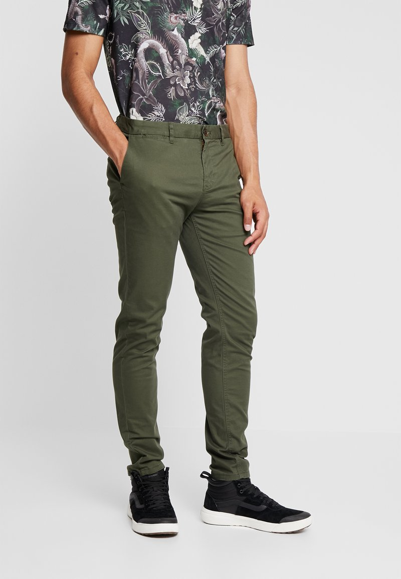 Scotch & Soda - MOTT CLASSIC SLIM FIT - Chinos - military