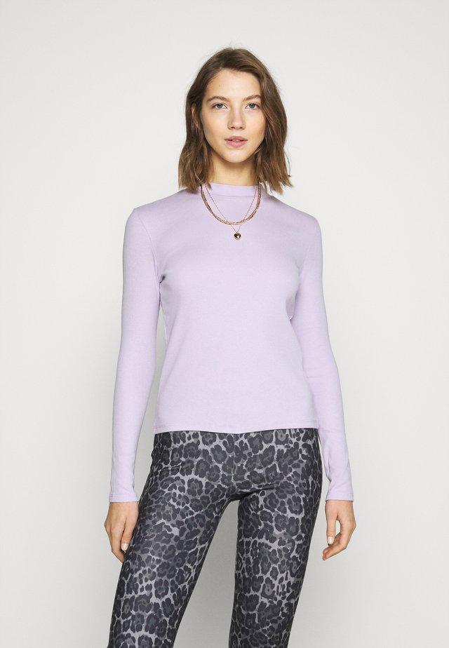 SAMINA - Top sdlouhým rukávem - lilac purple light