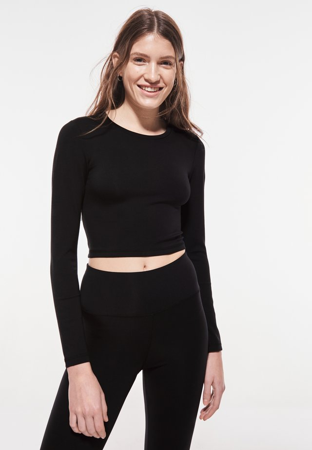 SAMANTHA - Long sleeved top - black