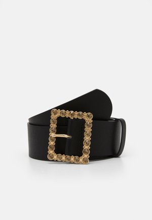 PCNILLA WAIST BELT - Midjebelte - black/gold-coloured