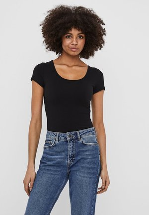 2 PACK - Basic T-shirt - black 2
