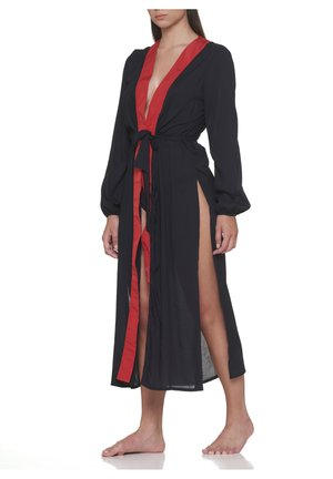 LIBRARY LONG KIMONO - Dressing gown - black