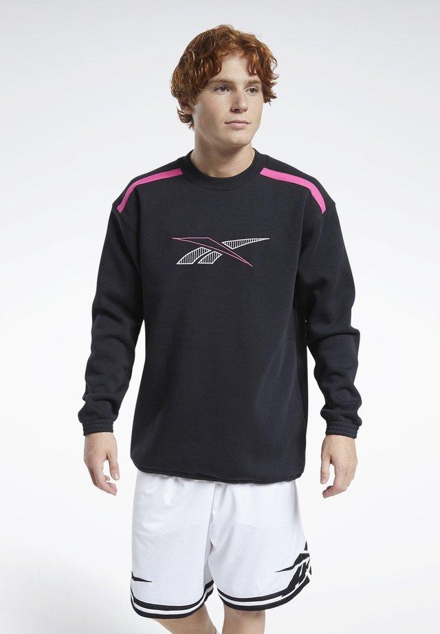 LASSICS TEAM SPORTS CREW SWEATSHIRT - Sweatshirt - black