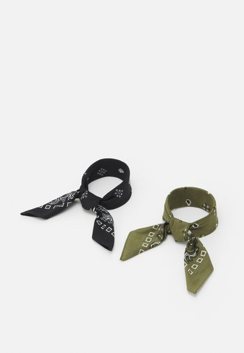 BANDANA 2 PACK UNISEX - Foulard - black/olive