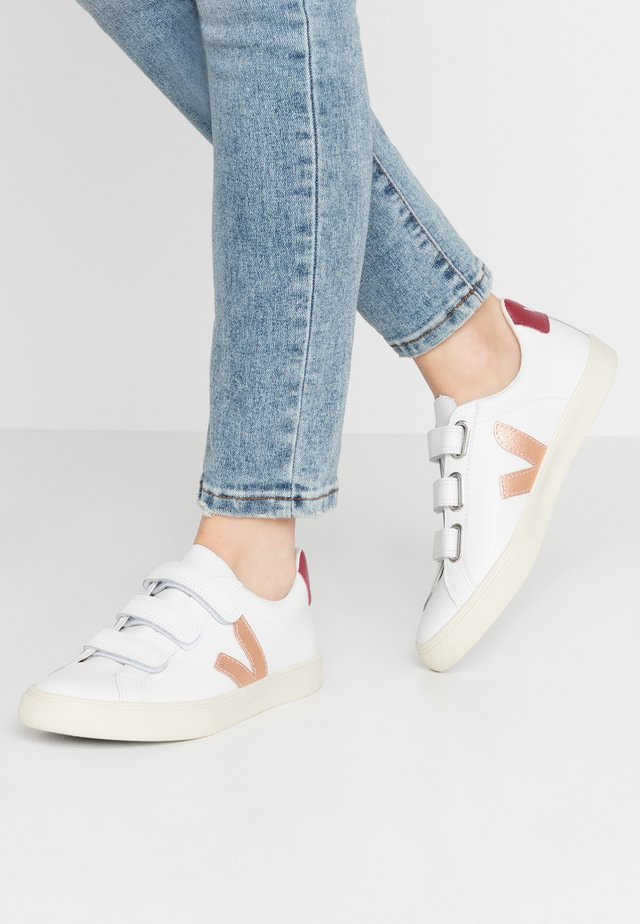 3-LOCK - Sneakersy niskie - extra white/venus/marsala