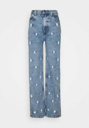 FLOWER - Straight leg jeans - bleached denim