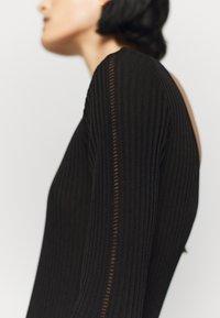 Patrizia Pepe - DRESS SEE THROUGH - Jumper dress - nero - 5