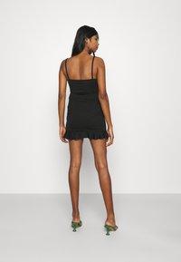 Missguided - WRAP CAMI RUFFLE MINI DRESS - Cocktail dress / Party dress - black - 2