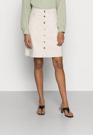 ERNA - Denim skirt - cream