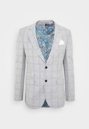 CHECK JACKET - Suit jacket - grey