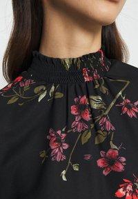 Vero Moda - VMGALLIE HIGH NECK SMOCK - Long sleeved top - black - 6