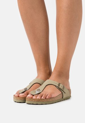 GIZEH EARTHY VEGAN - T-bar sandals - faded khaki