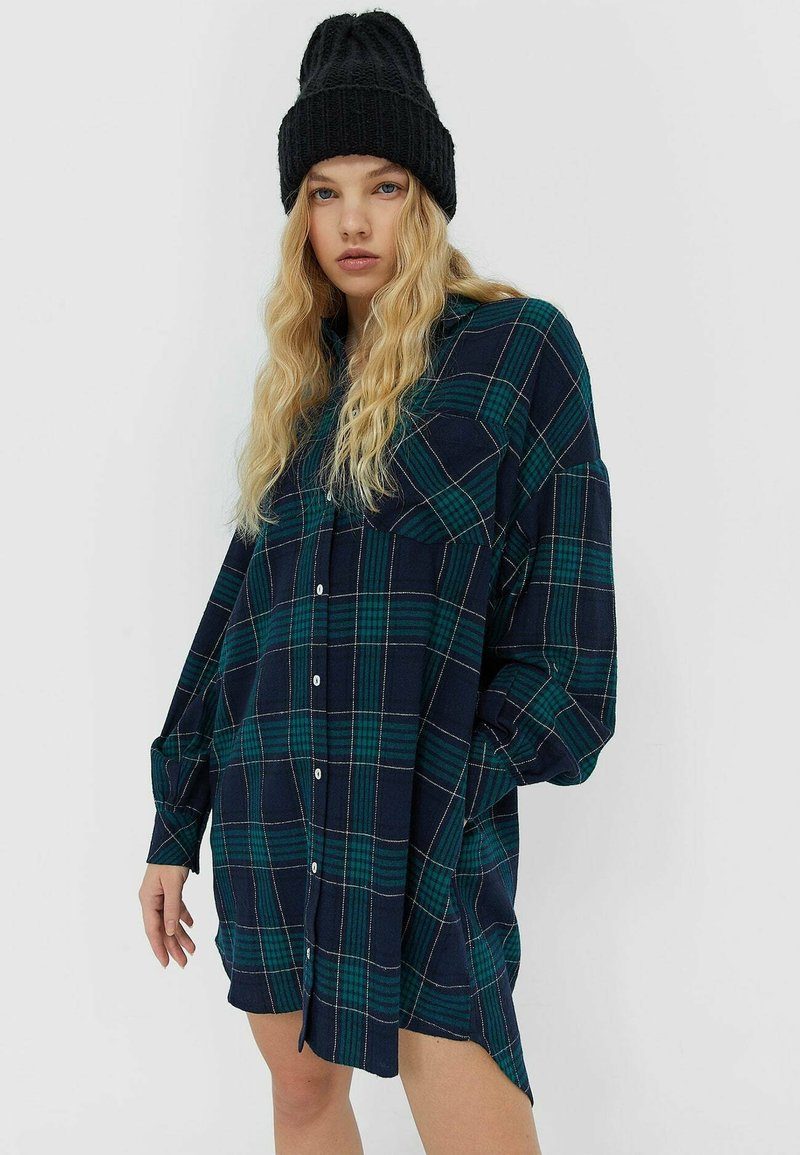 Stradivarius - Shirt dress - dark blue