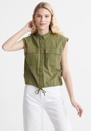MILITARY  - Button-down blouse - capulet olive