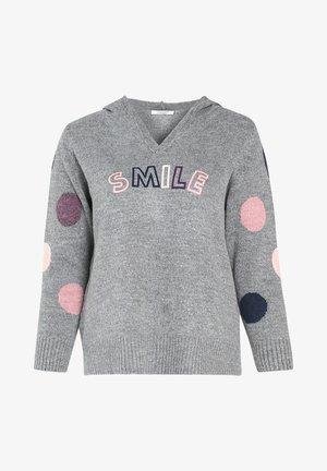 SMILE - Hoodie - grey