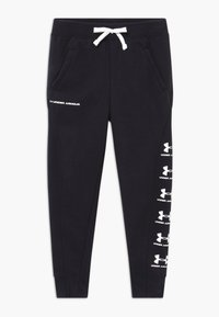 Under Armour - RIVAL - Tracksuit bottoms - black/white - 0