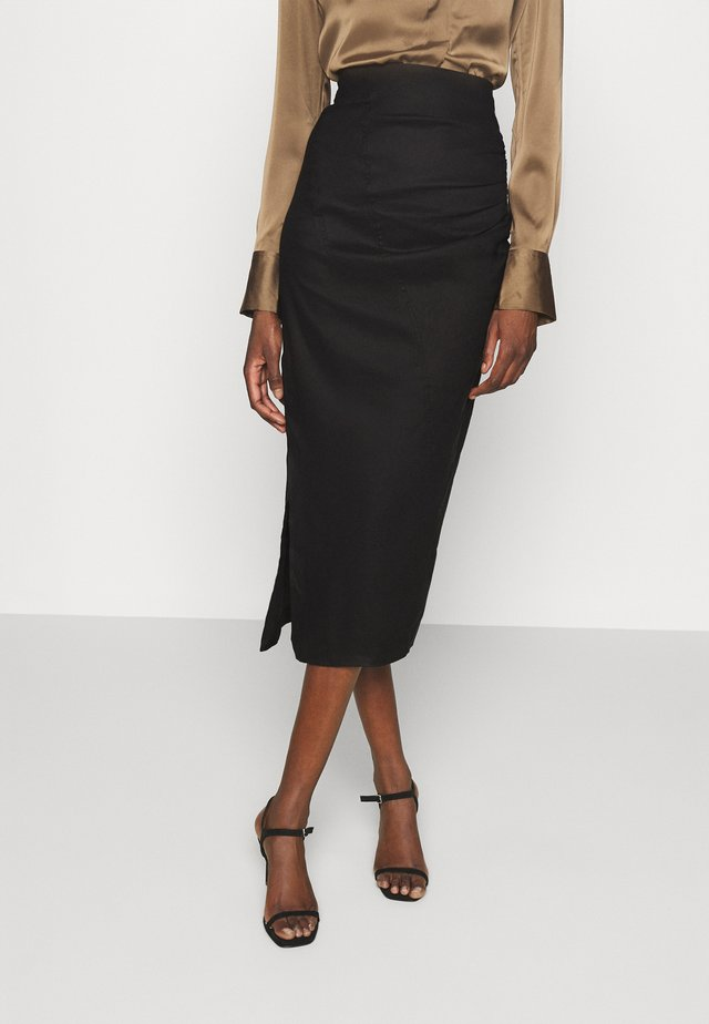 THE RUNNING BACK SKIRT - Jupe crayon - black