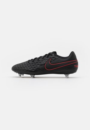 TIEMPO LEGEND 8 CLUB SG - Kopačky s kolíky - black/dark smoke grey/chile red