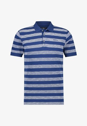 Poloshirt - cobalt/white