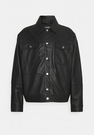 JACKET KANSAS - Leather jacket - black