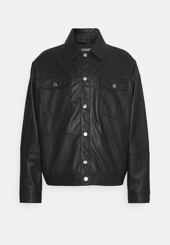 JACKET KANSAS - Veste en cuir - black