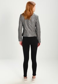 Oakwood - Leather jacket - anthracite - 2