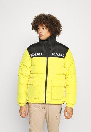 RETRO BLOCK PUFFER JACKET UNISEX - Winter jacket - black/yellow