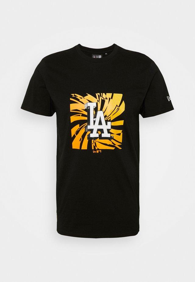 LOS ANGELES DODGERS MLB BOX GRAPHIC TEE - Club wear - black