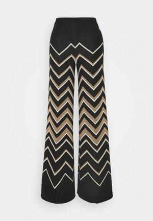 Spodnie materiałowe - nero/neve