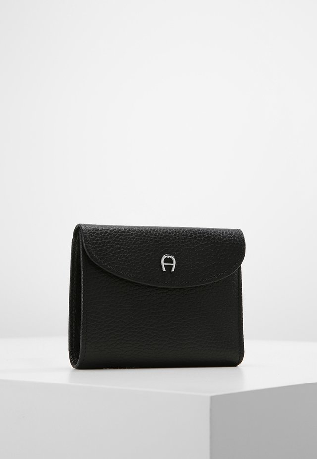BASIC COMBINATION FLAP WALLET - Portefeuille - black
