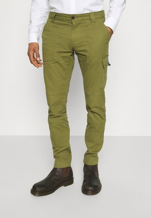 SCANTON DOBBY PANT - Cargo trousers - green