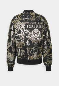 Versace Jeans Couture - BROCCATO LOGO BAROQUE  - Bomber Jacket - black - 7