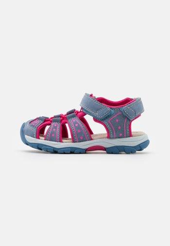 LEATHER - Walking sandals - dark blue