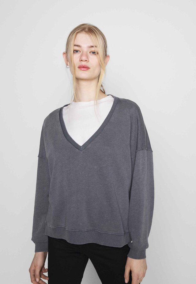 NECK CROP - Maglione - dark gray