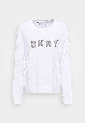 EMBROIDERED TRACK - Sweatshirt - white