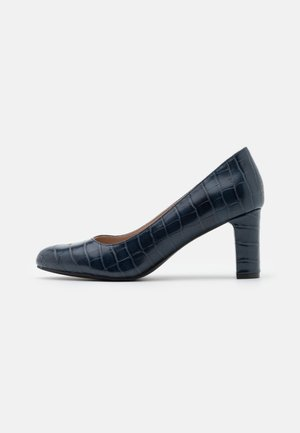 WIDE FIT DENVER ROUND TOE - Classic heels - navy
