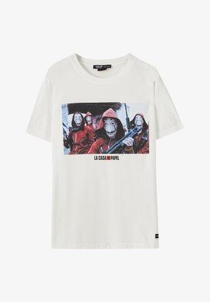 LA CASA DE PAPEL - Print T-shirt - white