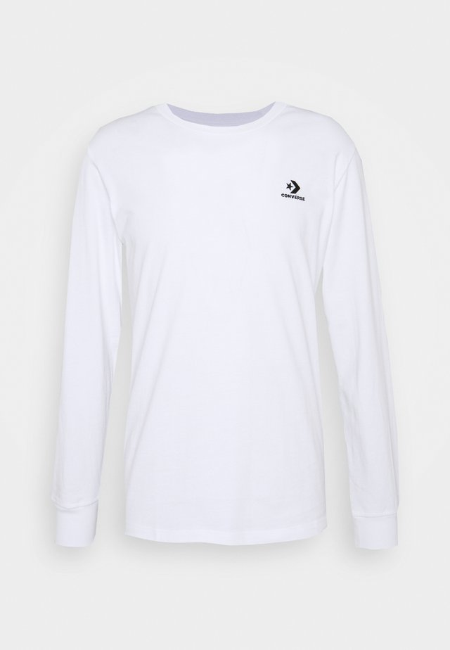 MENS STAR CHEVRON LEFT CHEST LONG SLEEVE  - Long sleeved top - white
